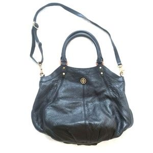 TORY BURCH Classic Black Leather Hobo
